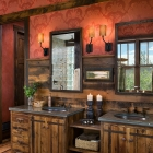 madison valley mountain home rustic master bathroom