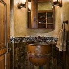rustic mountain home vintage bathroom rustic sink