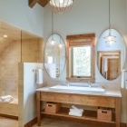 Sky Blue timber frame master bathroom spa