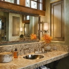 mountain magic luxury custom home rustic bath room