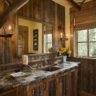 mountain magic luxury mountain modern home rustic guest bathroom