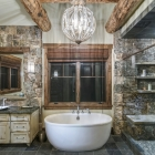 rustic golf getaway luxury home dream master bathroom