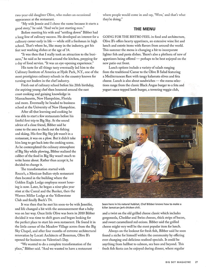 Olive B's in Big Sky Magazine - Summer 2012 - Page 2