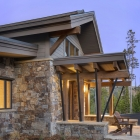 Diamond Hitch Mountain Modern House Front Doorway