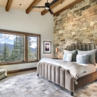 Diamond Hitch Mountain Modern House Master Bedroom