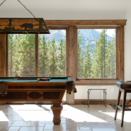 Cascade Ridge Custom Home Game Room with Pool Table
