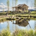 Custom fishing cabin hunting