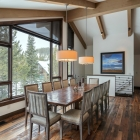 Custom home remodel interior dining area