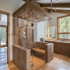 Custom home remodel master bathroom steam shower