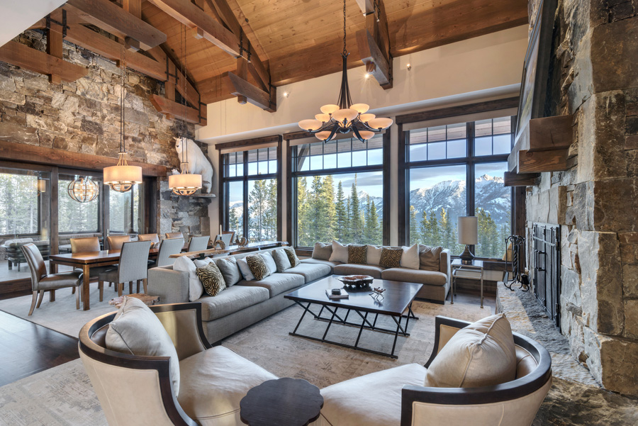Luxury Mountain House Featuring Modern Elegance And Rustic Charmblue Ribbon Builders