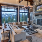 luxury mountain house Living Area (7)