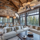 luxury mountain house Living Area (10)