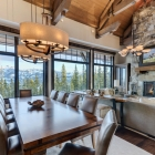 luxury mountain house Dining Room Table (2)