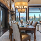 luxury mountain house Dining Room Table