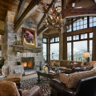 moonlight basin luxury home builder great room