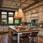 madison valley mountain home rustic dream kitchen island