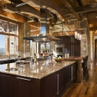 mountain magic custom log home timber frame chefs kitchen