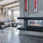 Custom Mountain Modern Home See Through Fireplace