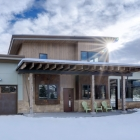 Custom Mountain Modern Home Front Close