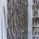 Custom Mountain Modern Home Shower Tile