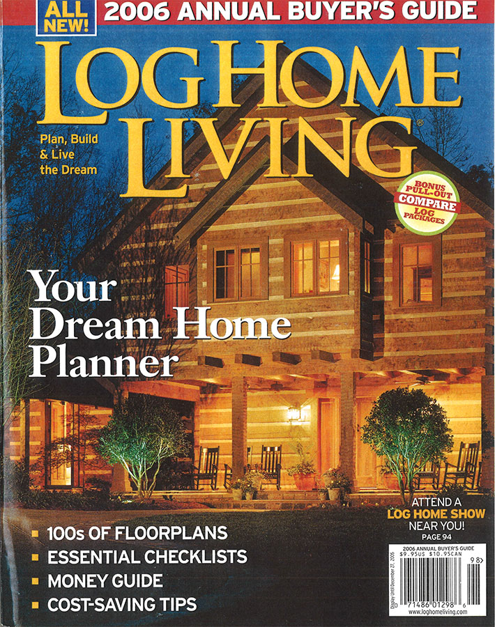 Log Home Living 2006 Cover