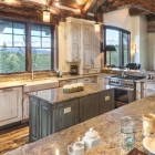 luxury mountain home dream kitchen island cabinets appliances