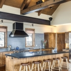 Gambler timber frame kitchen with island