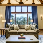 Gambler timber frame living room