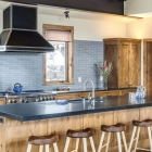 Gambler timber frame mountain modern kitchen