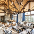 Gambler timber frame open concept great room