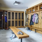 Gambler timber frame ski locker mudroom