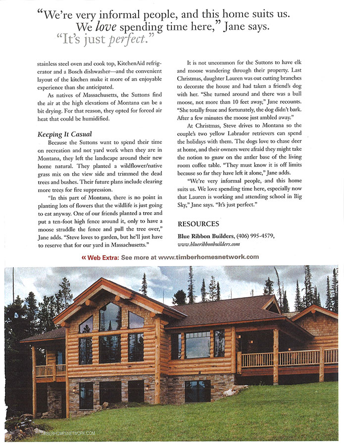 Timber Homes Illustrated 2007 Blue Ribbon Builders
