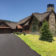 timber frame mountain home front