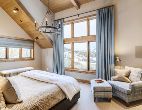 timber frame master bedroom